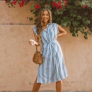 Never Worn! Vici Collection Delfino Striped Dress